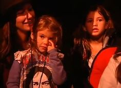 Eddie's Girls - Jill, Harper & Olivia. So sweet [Olivia is singing along with her father].