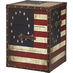Americana Trunk End Table
