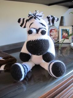 This cute cow was crocheted by Susan!