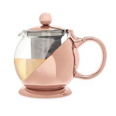 Pinky Up Shelby 0.75-Qt. Glass Teapot Color: Rose Gold