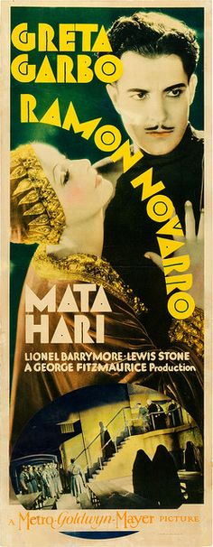 Mata Hari is a 1931 American Pre-Code film loosely based on the life of Mata Hari, an exotic dancer/courtesan executed for espionage during World War I. The film stars Greta Garbo in the title role. The film is credited with popularizing the legend of Mata Hari.