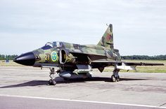 A Swedish Air Force Saab AJS37 Viggen in Poland, June 1998.