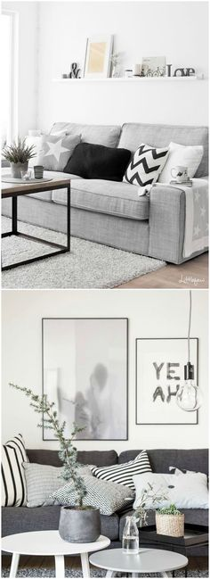 Gadgets, Techno, Cellphone, Computer: 10 Original things to decorate your table this season Home Living Room, Interior Design Living Room, Living Room Designs, Living Room Decor, Sofa Gris, Scandinavian Living, Scandinavian Interior, Deco Design, Room Inspiration