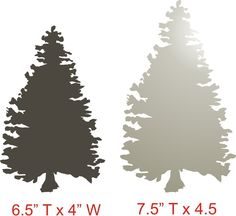 Pine TREE STENCILS set of 3 sizes available by SuperiorStencils