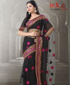 Nifty Black Saree