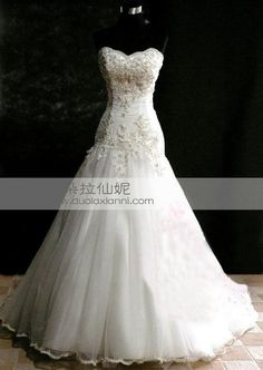 朵拉仙妮2012新款外贸做工韩版豪华蕾丝抹胸修身鱼尾婚纱 front