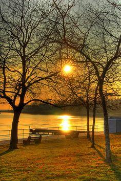Branford sunset, Linden Point, Branford, Connecticut