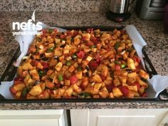 Fırında Karışık Kızartma Turkish Recipes, Ethnic Recipes, Turkish Breakfast, Turkish Kitchen, Sweet Potato, Cookie Recipes, Food And Drink, Potatoes, Favorite Recipes