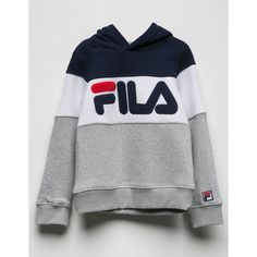 Fila Colorblock Girls Hoodie ( 55) ❤ liked on Polyvore featuring tops 6263a845c36b