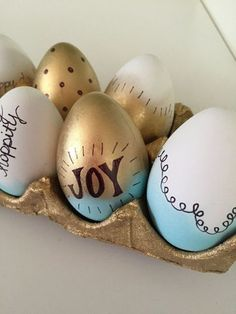 Segunda Páscoa Linda - Ovos Decorados -DIY - *Decoração e Invenção*