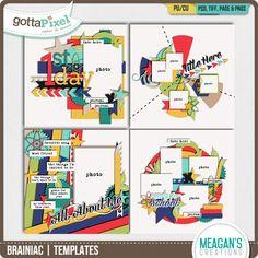 Brainiac | Templates :: Templates :: Packs :: Gotta Pixel Digital Scrapbook Store by Meagan's Creations $4.00