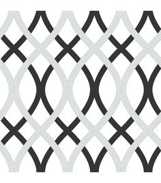WallPops® NuWallpaper™ Black and Silver Lattice Peel And Stick Wallpapernull