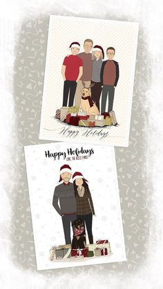 Custom Christmas Card Christmas Family Portrait Bespoke Family Portrait Personalized Family Illustration Christmas Decor Custom Holiday Card