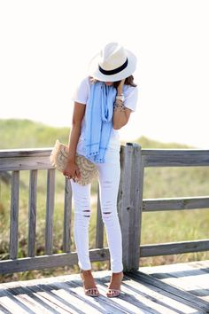 The perfect summer look: http://www.stylemepretty.com/living/2016/05/02/the-one-accessory-that-pulls-together-any-warm-weather-look/