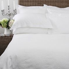 Gorgeous white duvet cover from Wallace Cotton