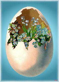 Merry Christmas Gif, Christmas Bulbs, Easter Egg Crafts, Easter Eggs, Retro Illustration, Gifs, Vintage Easter, Vintage Art, Animation