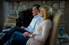 mitt and ann romney | Former Gov. Mitt Romney with wife Anne, at home, Belmont, MA, USA ...