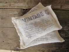 Vintage   Lavender Sachets  Burlap  French by frenchcountry1908, $5.99