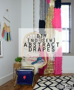 DIY Abstract Drapes