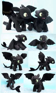 plush how to train your dragon plushie handmade stuffed animal httyd toothless nightfury httyd2 howtotrainyourdragon2 dragonites toothless plush