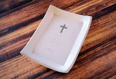 Baptism Gift  Personalized Miniature Platter  with by Susabellas #baptismgifts