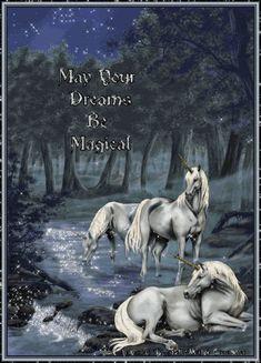 art cris ortega - Page 4 Unicorn Fantasy, Unicorn Art, Fantasy Art, Fantasy Life, Good Night Gif, Good Night Image, Magical Creatures, Fantasy Creatures, Impressionism