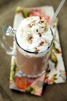 Vegan Coconut Almond Hot Chocolate with Vegan Whipped Cream