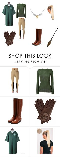 """""""Slytherin Quidditch Uniform Girl"""" by mrs-malfoy-dxvi ❤ liked on Polyvore featuring Gucci, Rupert Sanderson, Gizelle Renee and Nimbus"""