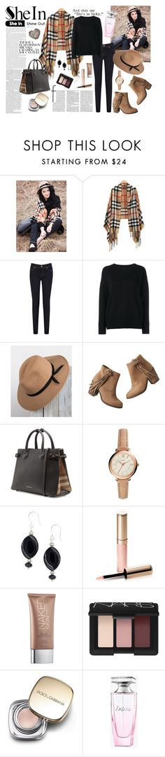 """""""SHEIN CONTEST LOOK"""" by natasa-topalovic ❤ liked on Polyvore featuring Oasis, Frame Denim, Shaw Park, maurices, Burberry, FOSSIL, By Terry, Urban Decay, NARS Cosmetics and Dolce&Gabbana"""
