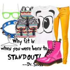 Dr. Seuss...I know this is about fashion, but I could just quote Dr. Seuss all day long!