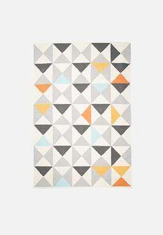 Sixth Floor Random Triangles Rug Handwoven Cotton Dhurrie