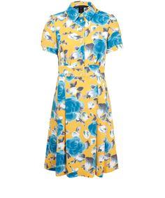 Marc by Marc Jacobs Yellow Rose Print Dress | Womenswear | Liberty.co.uk