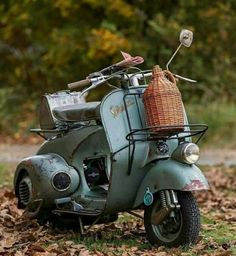 Out on a picnic on my Vespa.
