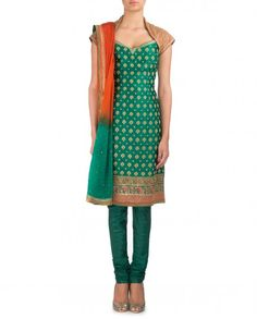 Embroidered Emerald Green Suit
