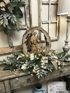 Christmas Home Decorating Elegant - Christmas Church Christmas Decorations, Elegant Christmas Decor, Christmas Nativity, Christmas Centerpieces, Outdoor Christmas, Rustic Christmas, Beautiful Christmas, Christmas Home, Christmas Holidays