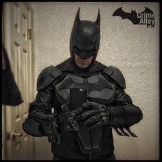 Progress on my batman Arkham origins costume. Shoulders completed and mounted.