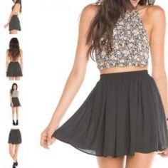 Brandy Melville Dresses & Skirts - ❌Sold❌Black brandy Melville heather skirt