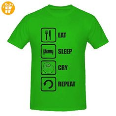 Eat Sleep Cry Repeat Funny Forever Alone Men's T-Shirt XX-Large (*Partner-Link)