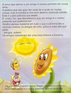 "História Infantil ""O Girassol Solitário"" Winnie The Pooh, Disney Characters, Fictional Characters, Presentation, Activities, Elsa, Children's Literature, Religion Activities, Poetry For Kids"