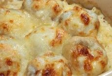 Cheese Meatballs in Creamy Bechamel Sauce