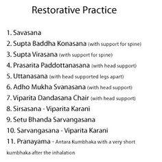 Restorative Sequence Iyengar instructions