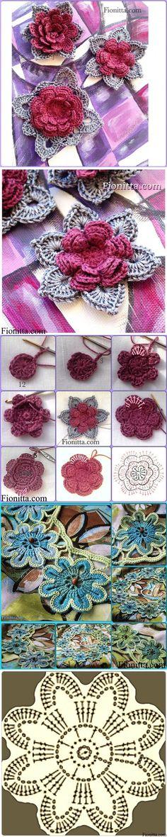 Flowers crochet.