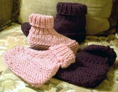 Knitted Slipper Patterns for Adults | ... knit slippers use short rows for a much better fit than most slippers