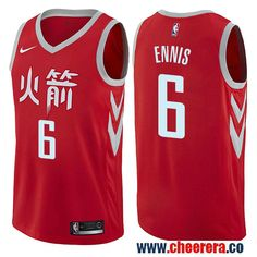 3261f8ffcb Houston Rockets #6 Tyler Ennis Red Nike NBA Men's Stitched Swingman Jersey  City Edition Robert