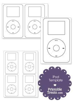 Free Printable iPod Outline