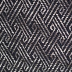Black and White Tribal Geometric Cotton-Polyester Jacquard Fabric by the Yard | Mood Fabrics