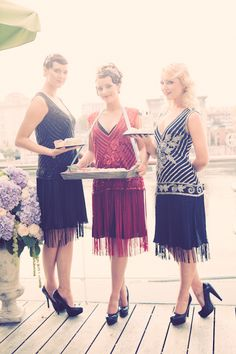 twenties girls. would be amazing if we could dress the servers like this