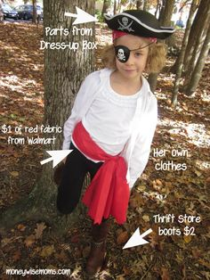 Pirate Costume   Tips for a Moneywise Halloween