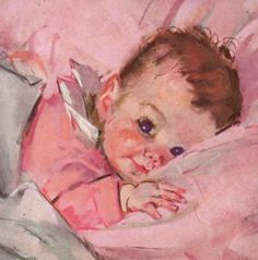 Vintage baby illustration -- by Maud Tousey Fangel (American, 1881--1968)