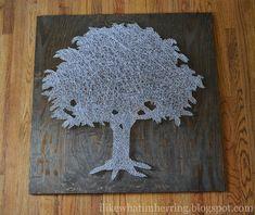 i like what i'm herring: big ol' tree string art!